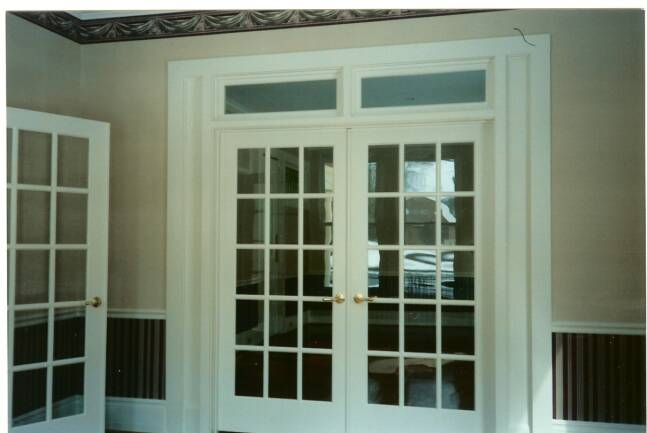 Champlain stone office interior construction for the glens falls queensbury saratoga lake - Interior french doors for office ...